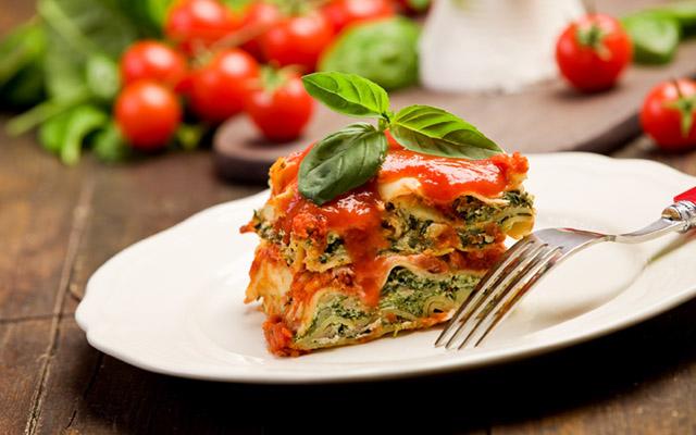 spenat och ricotta lasagne